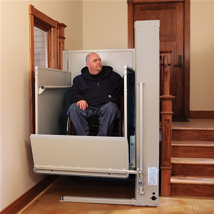 huntington beach wheelchair elevator vertical platform lifts vpl bruno macs porchlifts pl50
